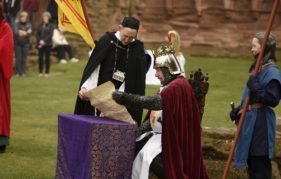 King Robert Bruce studies The Declaration of Arbroath