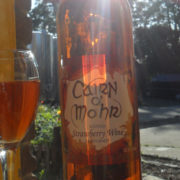 Local strawberry wine