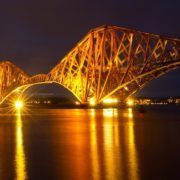 The Forth Rail Bridge - one of the Edinburgh icons the cyclists will visit during the Edinburgh Night Ride