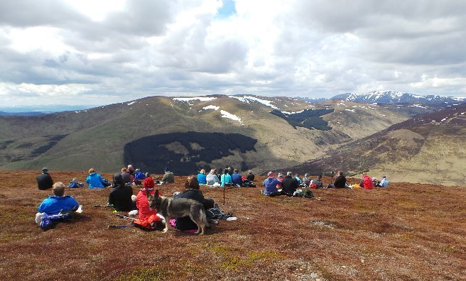 Lunchtime view from near the summit of Ben Gulabin.