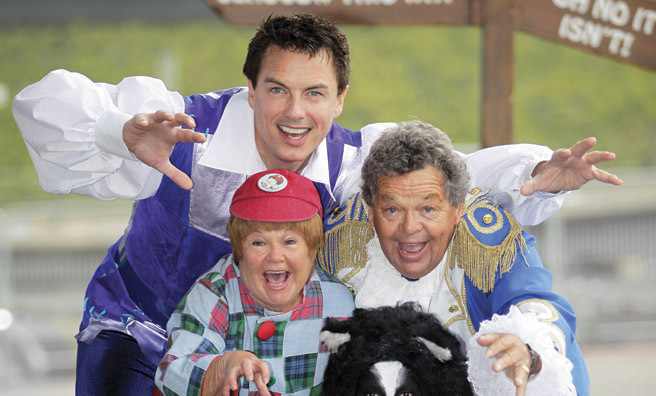 John with The Krankies in panto mood
