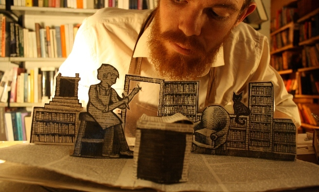 The Bookbinder - a captivating tale featuring pop-up books and puppets. Photo by Stephen Coulter 4 Assembly