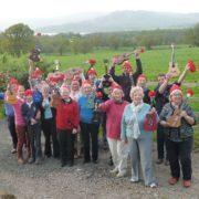 Members of the Loch Lomond Ukulele Orchestra prepare for Weirfest