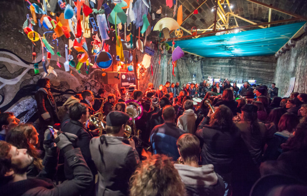 Inside the secret venue at Hidden Door 2014. Pic: Chris Scott