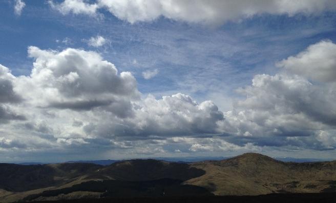 Big skies at Glenshee. Photo by Wendy Glass