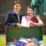 Book Festival Directors Nick Barley and Janet Smyth. Photo courtesy of Edinburgh International Book Festival