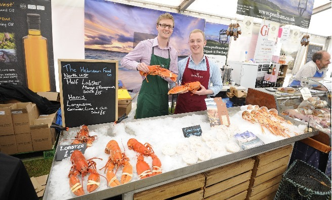 One of the stalls in the Food Hall at the GWCT Scottish Game Fair
