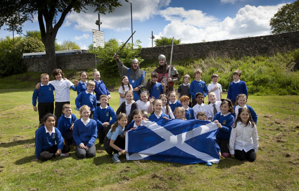 Pupils of St Ninians PS in Stirling enjoy the event. Pic: Drew Farrell