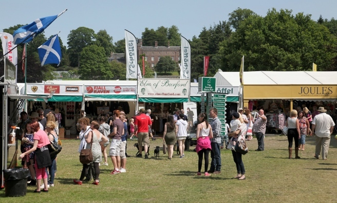 There are always lots of stalls at the GWCT Scottish Game Fair