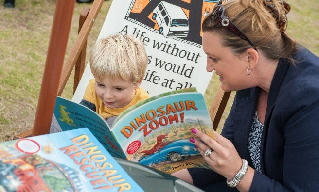 The Edinburgh International Book Festival appeals to all ages. Photo courtesy of Edinburgh International Book Festival