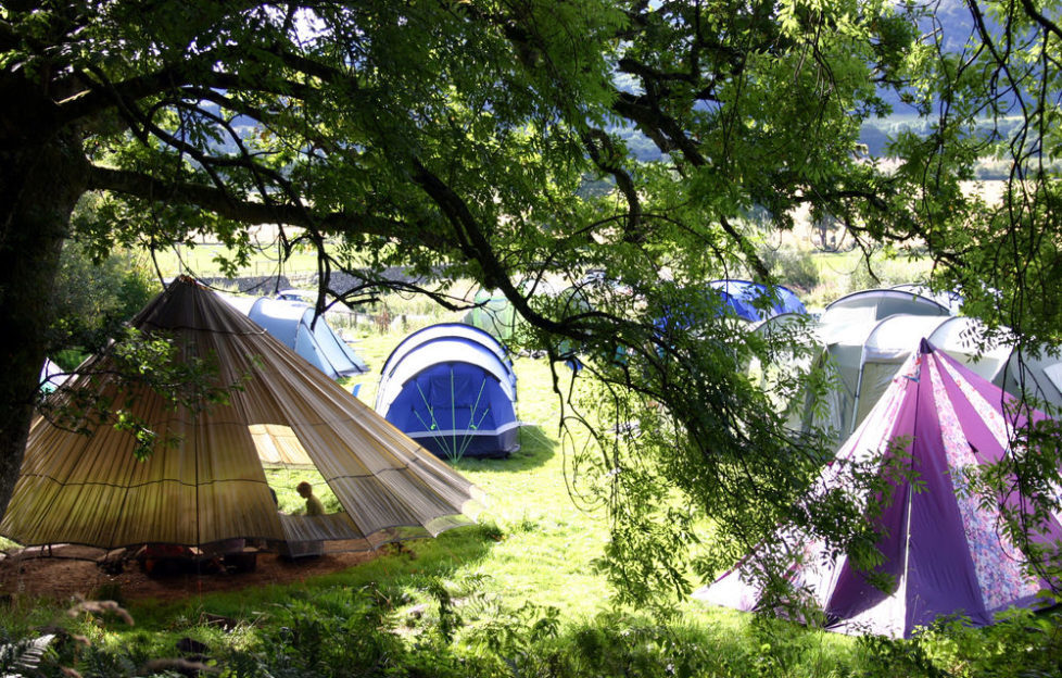 The picturesque camp site setting