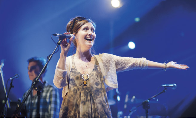 Karen Matheson feels at home on any stage