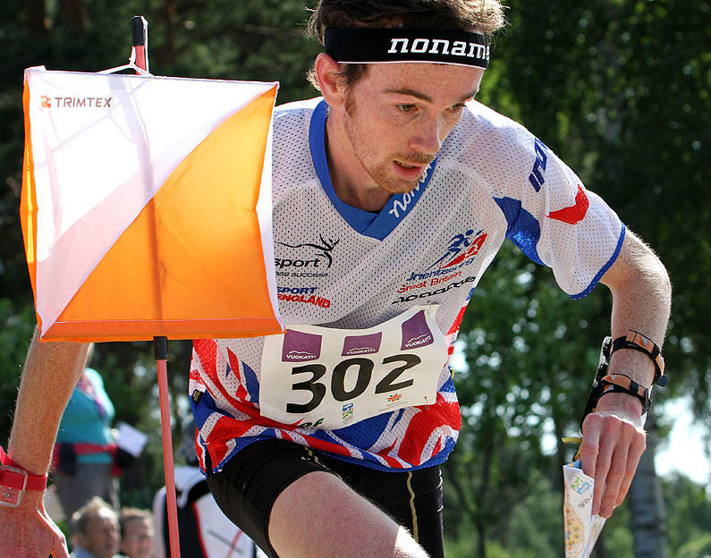 Scott Fraser runs to a check point for his Silver Medal in the 2013 World Championships