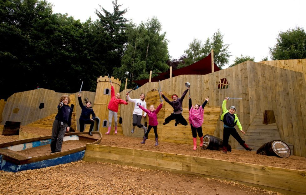 Adventure Cove play park at Culzean Castle. Image by Derek McCabe