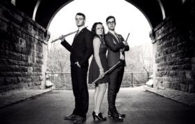 Champagne Flutes - a vibrant flute trio from Glasgow who are actively involved in the Live Music Now Scotland Scheme.