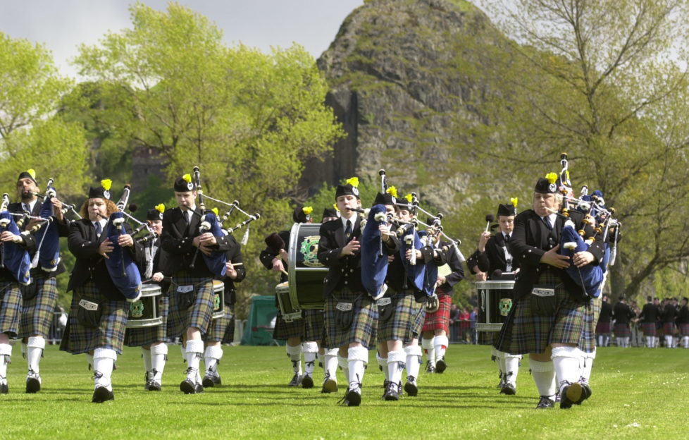 The Scottish Pipe Band Championships have a fantastic setting at Dumbarton