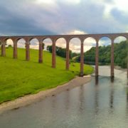 The Leaderfoot Viaduct from the viewpoint