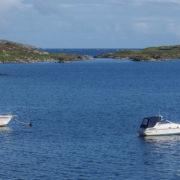 Boats in the waters of Castlebay