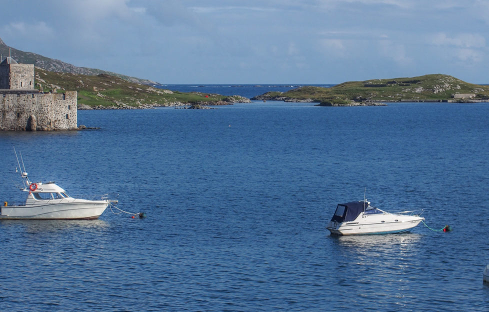Boats in the waters of Castlebay