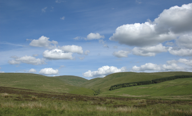 Glen Tye with Blairdennon on the skyline