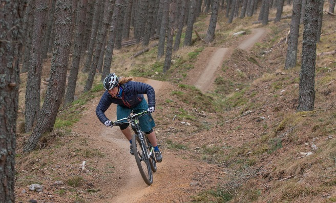 Mountain biking at Glenlivet.