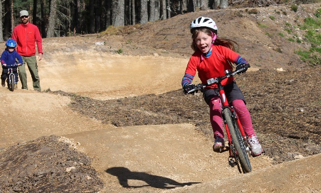 Fun on the pump track at Glenlivet