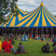 The main tent of the Hebridean Celtic Festival