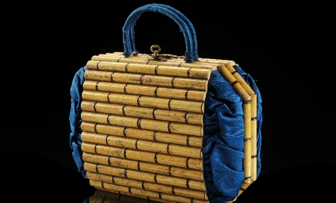 A highly fashionable blue bag from 1856. Photo copyright CSG CIC Glasgow Museums Collection