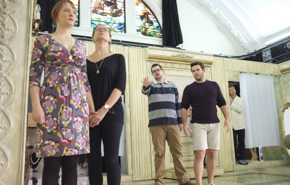 Busy rehearsing. Rosalind is on the left. Image: John Cooper