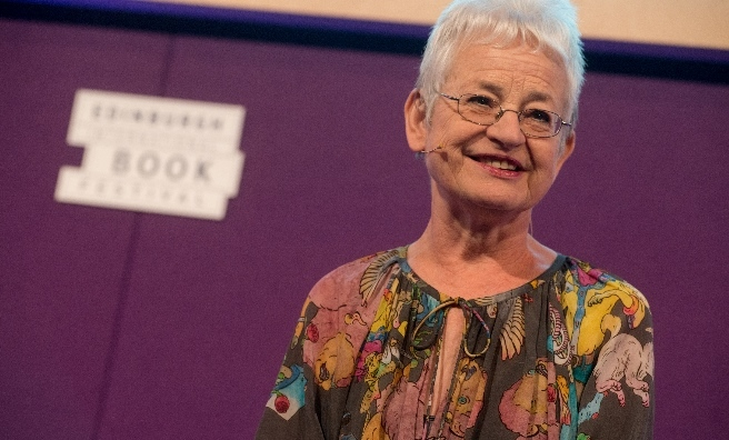 Jacqueline Wilson at the Edinburgh International Book Festival 2015. Photo by Alan McCredie, courtesy of Edinburgh International Book Festival