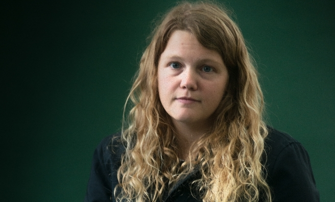Performance poet Kate Tempest went down a storm! Photo by Alan McCredie, courtesy of Edinburgh International Book Festival