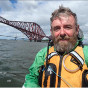 Kayaking under the Forth Rail Bridge was a definite highlight for Nick