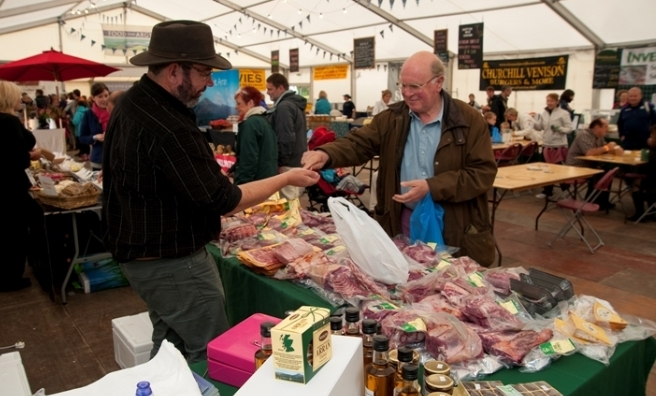 Local produce plays a starring role in the food tent