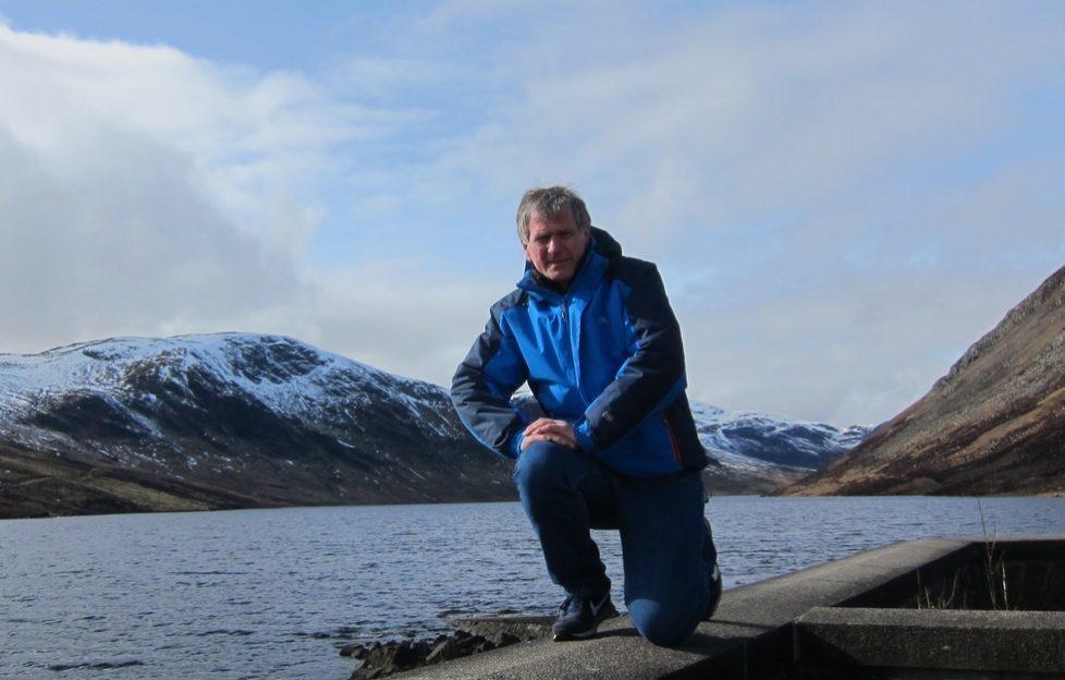 Dougie at Loch Turret on his #Lochathon!