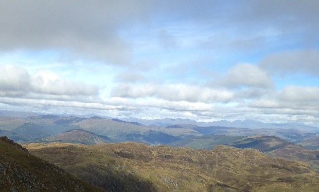One of the many outstanding views from the top of Ben Ledi.