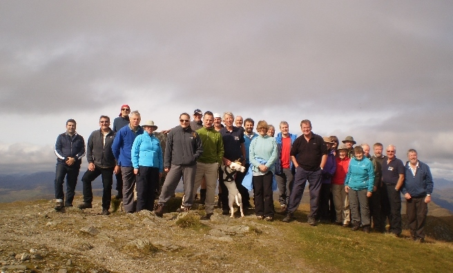 The Scots Mag crew at the top of Ben Ledi. Another fabulous Take A Hike!