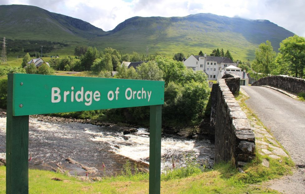 Bridge of Orchy Hotel and bridge