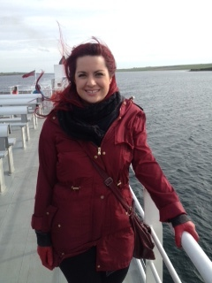 Alice McKay, Assistant Stage Manager, enjoys the ferry ride