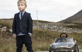 Mikey Bell recreates one of the iconic SkyFall scenes at Glen Etive in the Highlands. Phouto courtesy of VisitScotland