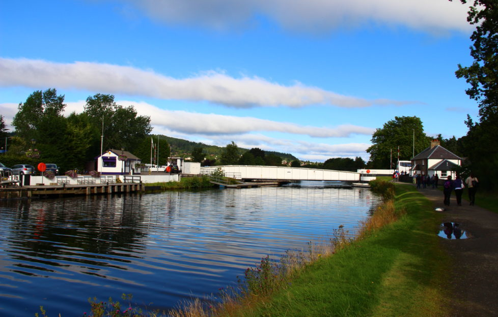 Our Sunday walk started here at the Tomnahurich swing bridge, Inverness, en route home from Glen Affric