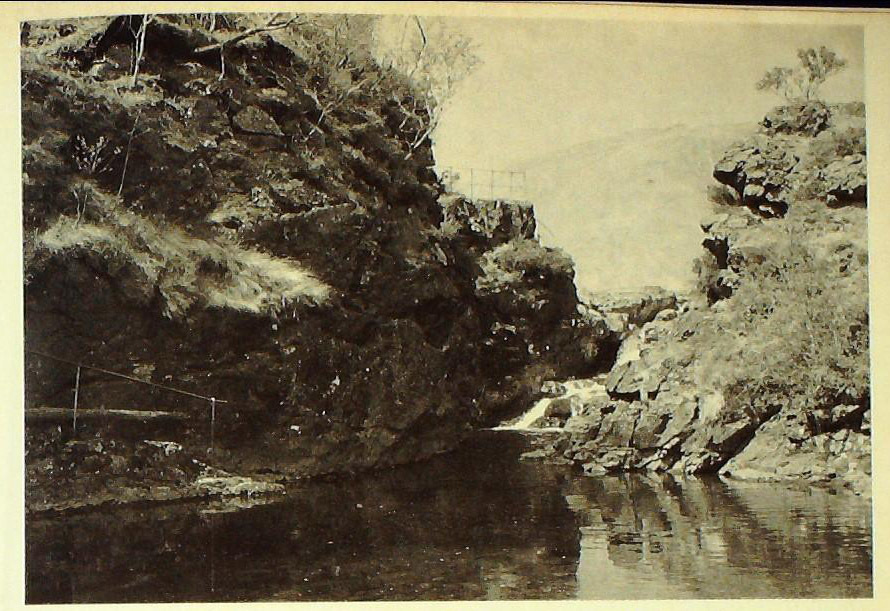The Falls of Lussa, where Ewen's horse crossed the river carrying his decapitated body.