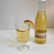 Cuddybridge Apple Juice with a glass of mulled apple