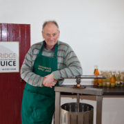 Graham Stoddart by his apple press
