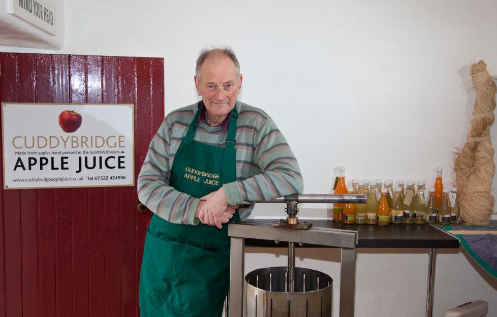 Graham Stoddart by his apple press