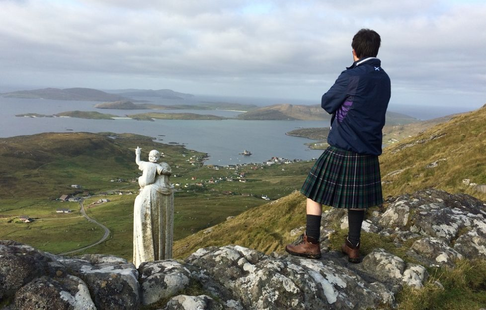 Neil takes in the view over Castlebay