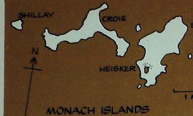 Monach Islands map