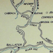 Map showing Cabrach