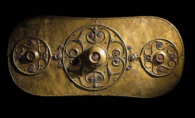 The Battersea Shield, one of the fascinating Iron Age exhibits on display in Celts. From circa 350–50 BC, the shield was found in the River Thames. © The Trustees of the British Museum.