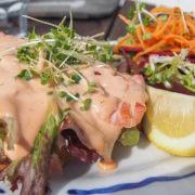 Langoustine Open Sandwich - at Café Fish