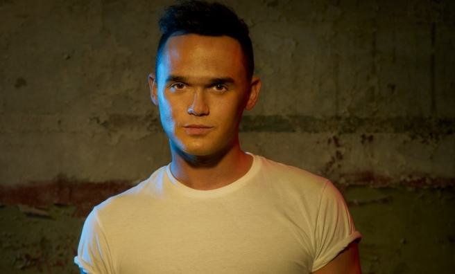 Gareth Gates stars as Willard in the national tour of Footloose. Photo by David Ellis for Boom Ents.